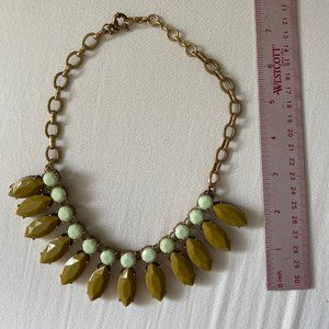 JCrew Chunky Aquamarine/Green Necklace